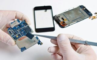 Инструменты и расходный материал для пайки телефонов