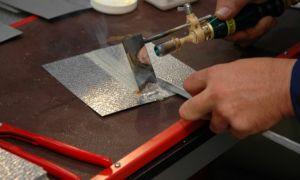 Пайка железа с помощью оловянного припоя