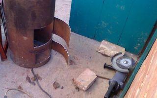 Сварка печи из металла для бани