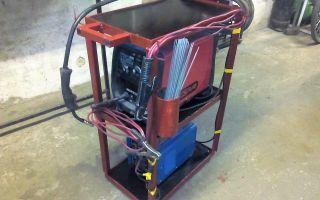 Конструкция тележки для сварочного полуавтомата